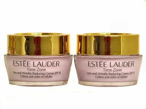 Brand New 2 x 0.5 oz Travel Size Estee Lauder Time Zone Line and Wrinkle Reducing Creme SPF15 for Normal / Combination Skin by Estee Lauder. $21.99. Estee Lauder Time Zone Line and Wrinkle Reducing Creme SPF 15. 2*0.5oz. For Normal/ Combination SKin. Estee Lauder Time Zone Line and Wrinkle Reducing Creme SPF 15 For Normal/ Combination SKin  2*0.5oz