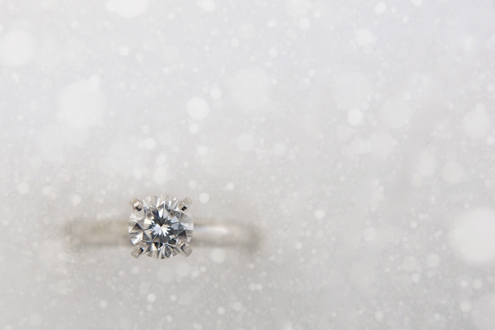 Lovely shot of a ring in snow