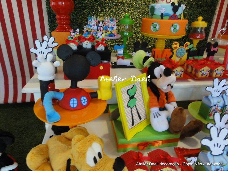 Decoração turma do Mickey | Atelier Daeli | Elo7
