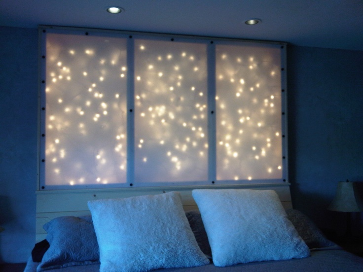 17 best images about new room on pinterest lava lamps tapestries and glow - Backlit headboard ...