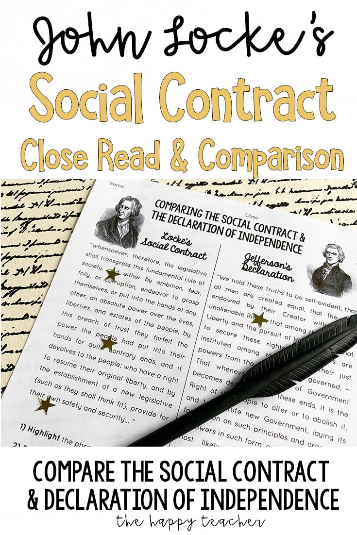 John Locke & Thomas Jefferson | Social Contract Close-Read ...