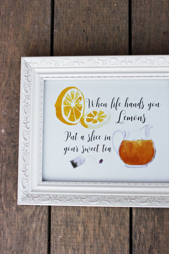 Instant Download #Sweettea print #kitchenart by pinkoctopuspapers