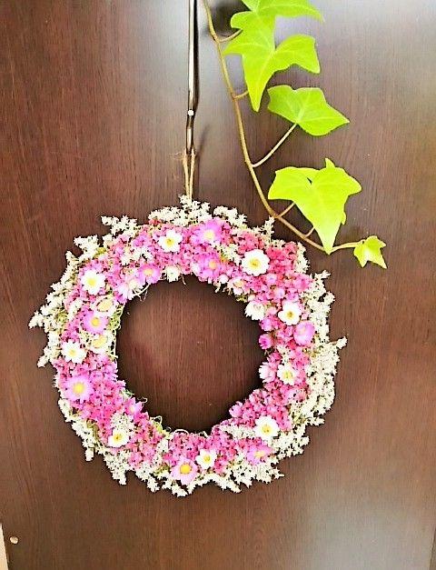 サマーチェリーピンクリース   マイルルーム、玄関、ご結婚関連に、お誕生日プレゼントにも。