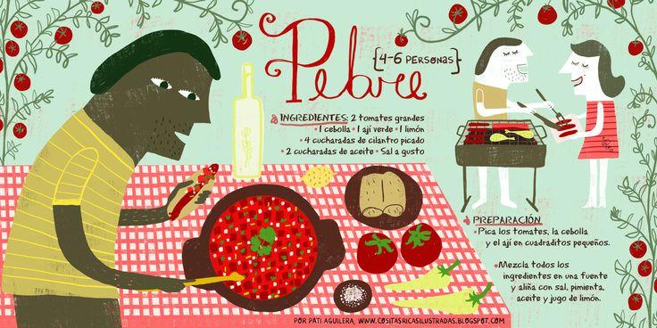 CHILEAN PEBRE RECIPE #Infographic #Chile #Spanish #Food