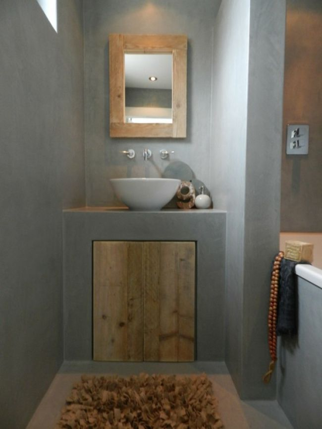 16 concrete ideas for designer bathrooms