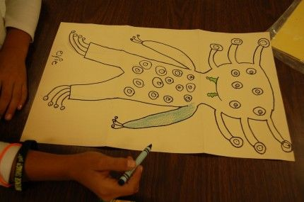 """Create-a-creature from """"10 Halloween Art Lessons for Kids."""""""