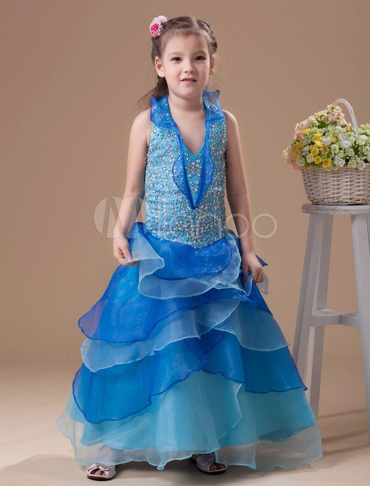 #Milanoo.com Ltd          #Girls Pageant Dresses    #Beautiful #Blue #Organza #Halted #Girl's #Pageant #Dress                     Beautiful Blue Organza Halted Girl's Pageant Dress                            http://www.snaproduct.com/product.aspx?PID=5681478