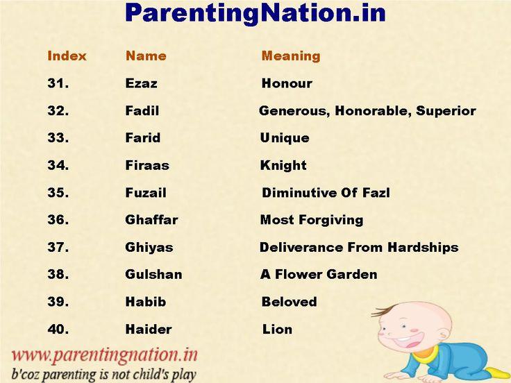 baby boy names resume