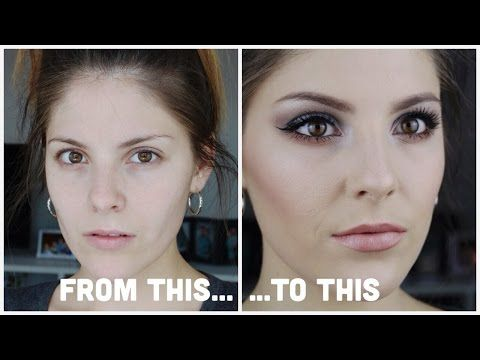 From Plain to Glamorous   CHI CHI NUDES PALETTE SMOKEY EYE WITH GLOWING SKIN - YouTube