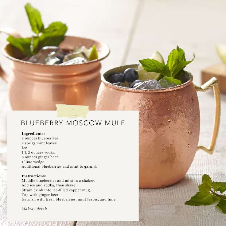 Blueberry Moscow Mule RecipeBlueberries Moscow, Parties, Moscow Mule Recipe, Blog