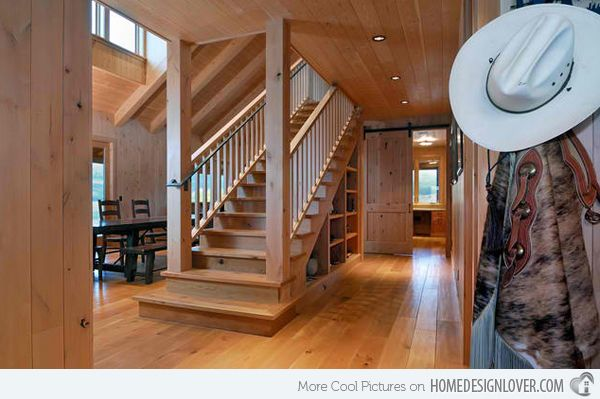 20 Attractive Wooden Staircase Design | Home Design Lover