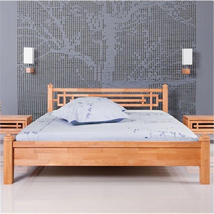 Low bed Tokio- låg säng Tokio. Snygg säng med huvudgavel med ett fint mönster. Kan fås i ek och bok #heminredning #sovrum #bedroom
