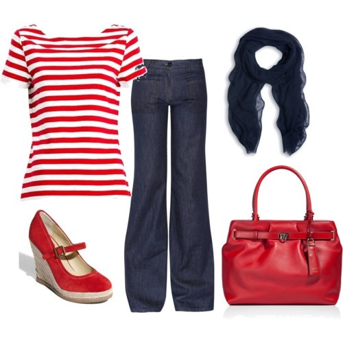cute red white and blue outfit!: Dreams Closet, Red Stripes, Sailing Outfits, Shoes Clothing Fashion, Red White Blue, Summer Outfits, 4Th Of July, Polyvore Polyvore, Spring Outfits