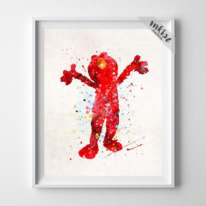 Elmo, Sesame Street Print