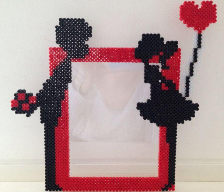 Love frame hama beads by Les-petites-creas-de-laura