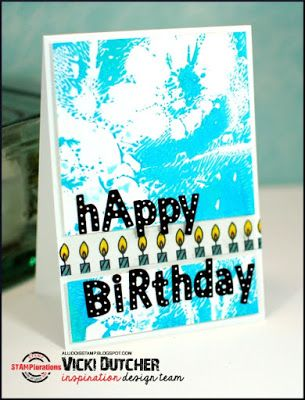 Card by Vicki featuring the CUTplorations Lowercase Alphabet plate thin metal die