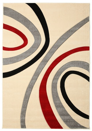 Karin rug 230x160 made of PP Frieze - Available in four different colour combinations. Find affordable rugs at RugVista.com £109