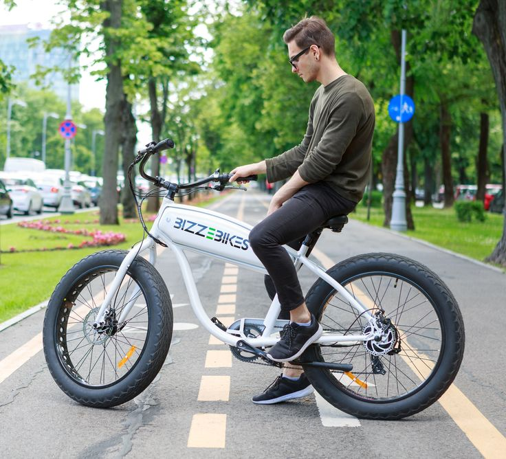 Bizze Cruiser (white) // Electric Cruiser Bike by BizzOnWheels