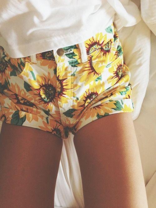 sunflower shorts ahhhh no waaaay!
