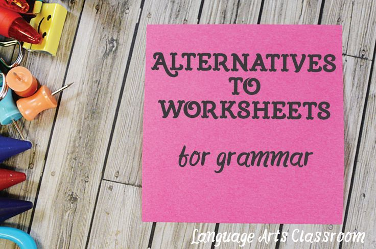 Looking to spruce up grammar lessons? Here are 10 Alternatives to the Grammar Worksheet. (Hint: you probably have most of these supplies!)