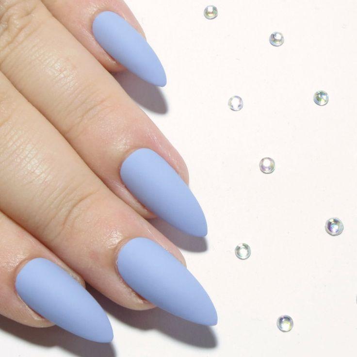 Matte Pastel Nails Stiletto Pretend Nails Pointy Press On Nails - http://shoebrand.net/matte-pastel-nails-stiletto-fake-nails-pointy-press-on-nails/