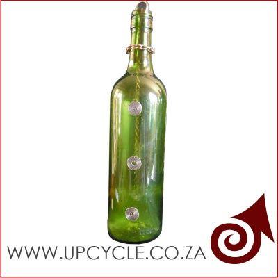 Smoking wine bottle incense burner