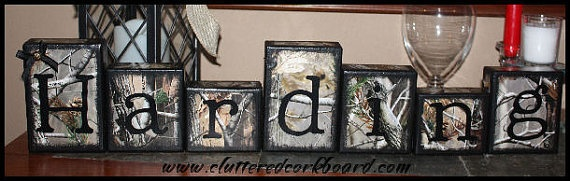 Diy with camo scrapbook paper. I'd do other patterns abd mix then with the Camo though