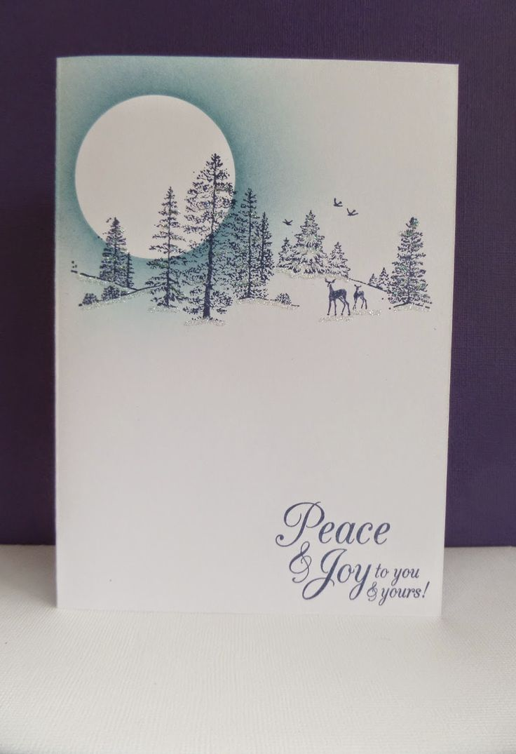 Best 25 stamped christmas cards ideas on pinterest xmas Christmas card scenes to paint