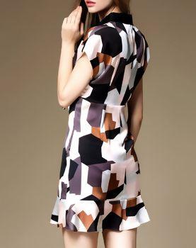 Buttoned Cotton-blend Mini Dress