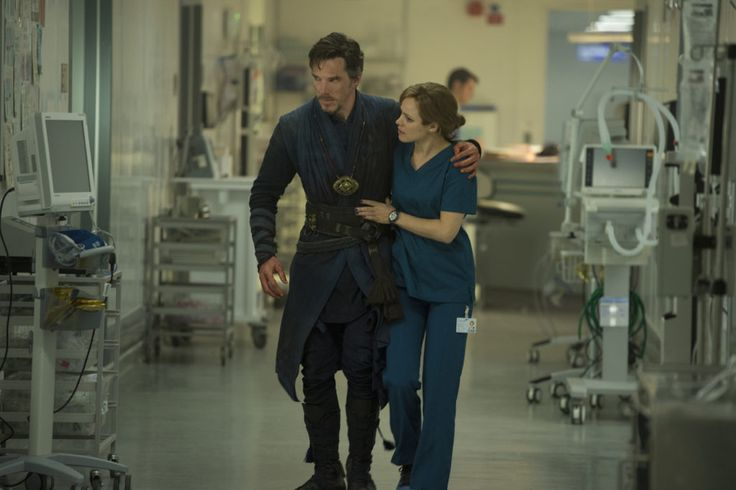 Doctor Strange and Christine (Rachel McAdams) super excited for this movie