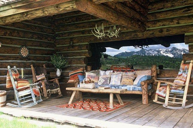 A tour of ralph lauren 39 s colorado ranch denim patchwork for Ralph lauren outdoor furniture