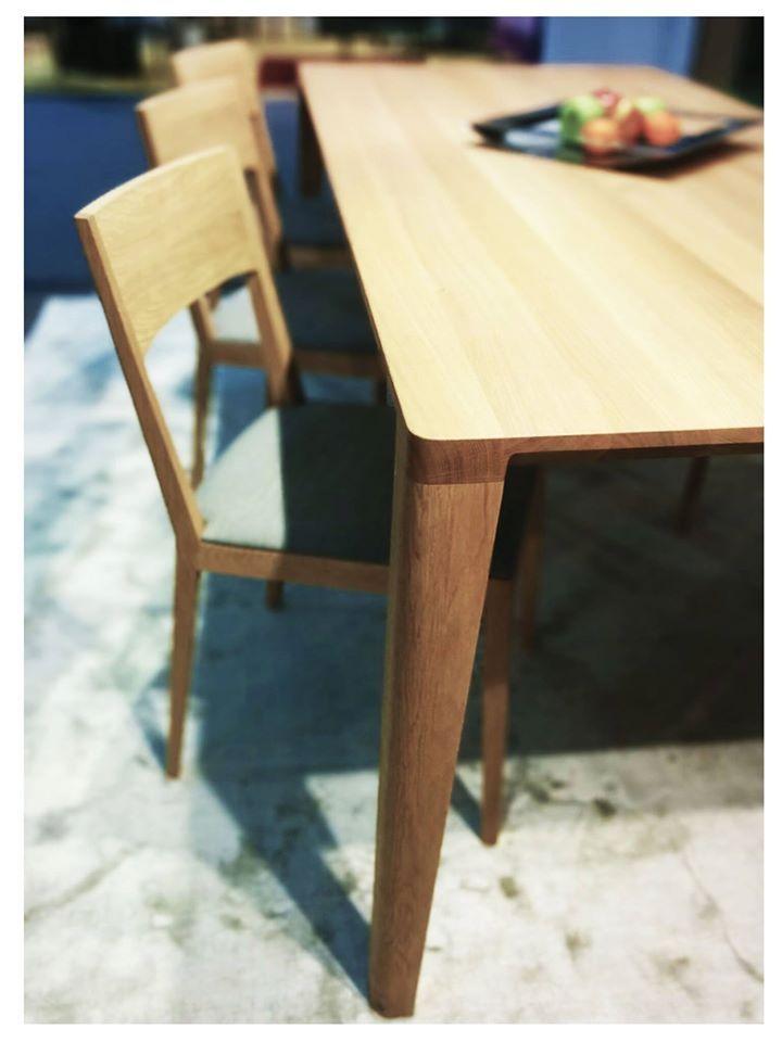 Furniture Designs JAVORINA :: Masívny dubový stôl a stolička INCA | Solid oak dining table and chair INCA shop.javorina.eu