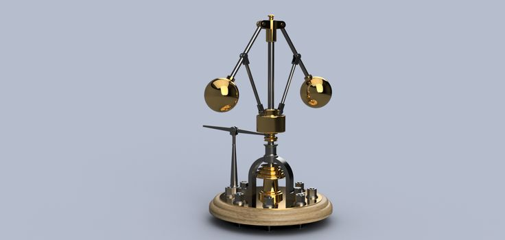 James Watt - Centrifugal Force Governor - STEP / IGES - 3D CAD model - GrabCAD
