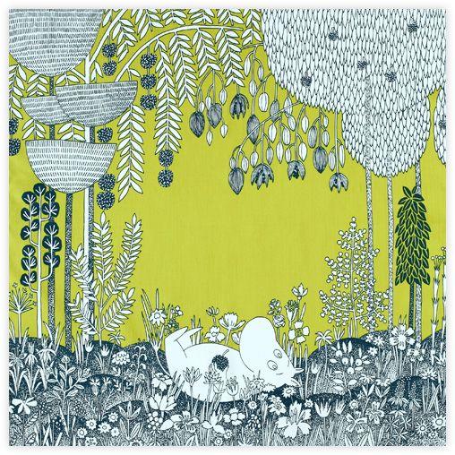 Moomin Tribute Works fabric
