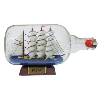 Maritimes Flaschen-Schiff Passat als schöne Geschenkidee  KEINE VERSANDKOSTEN INNERHALB DEUTSCHLANDS!!