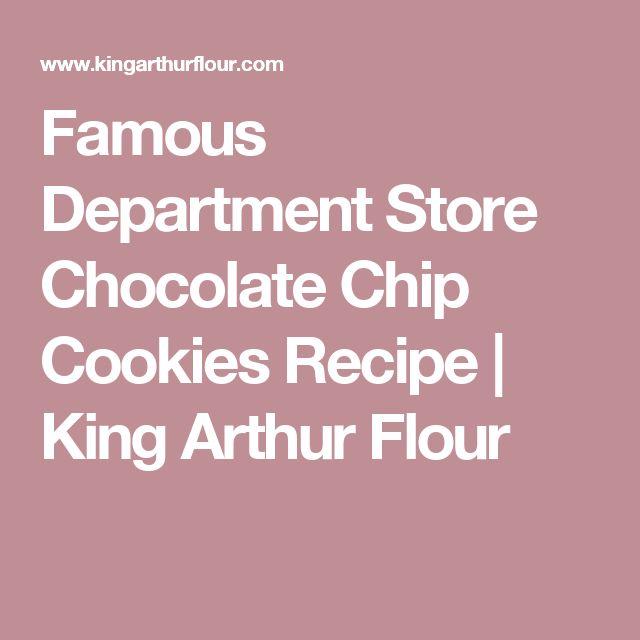 Famous Department Store Chocolate Chip Cookies Recipe | King Arthur Flour (Neiman Marcus Cookies)
