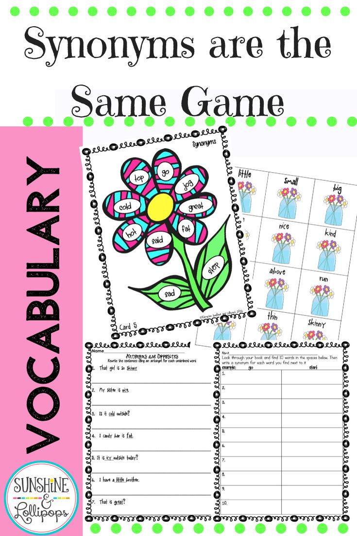Synonym Game To Reinforce And Learn All About Shades Of Meaning Reading Foundational Skills Vocabulary Development Vocabulary Activities