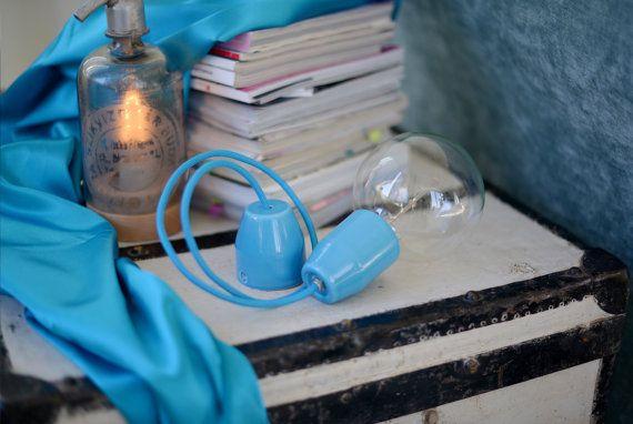 Tilka solo minimal lamp - Blue