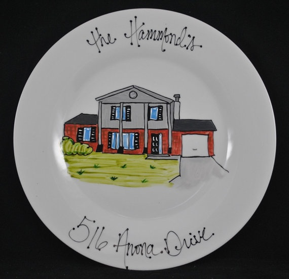 Personalized House Plate This Would Be A Great Going Away Gift From