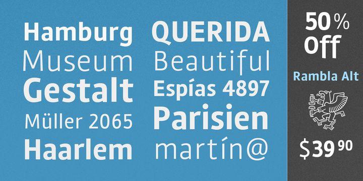 Rambla Alt (50% off, from $0)  http://fontsdiscounts.com/rambla-alt-50-off-from-0/