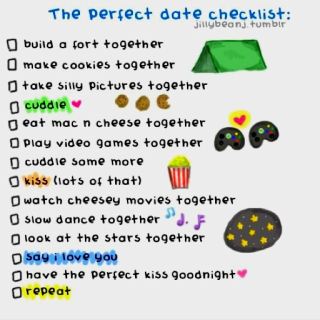 Womens dating checklist