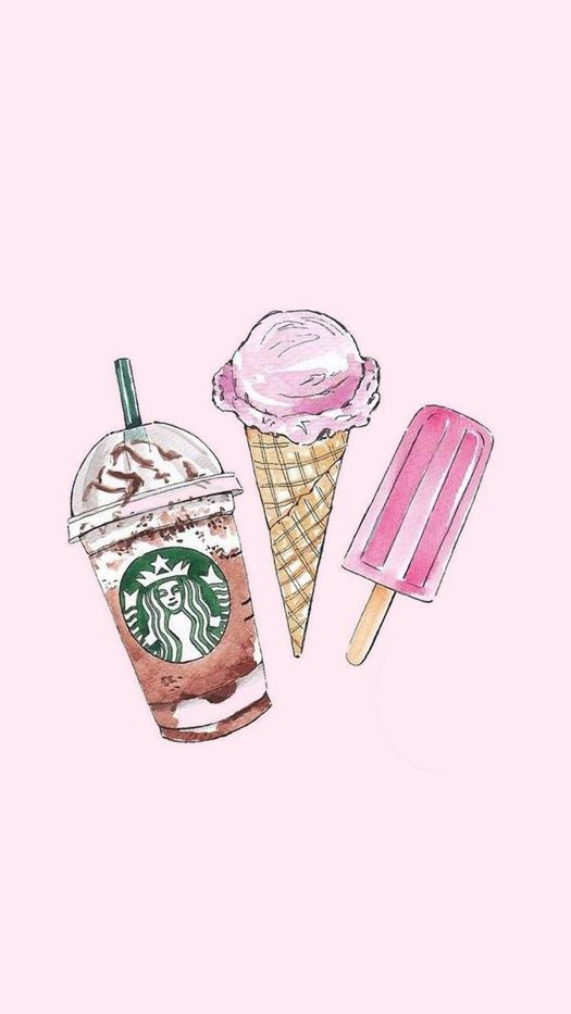 Starbucks and Ice Cream iPhone Wallpaper Iphone