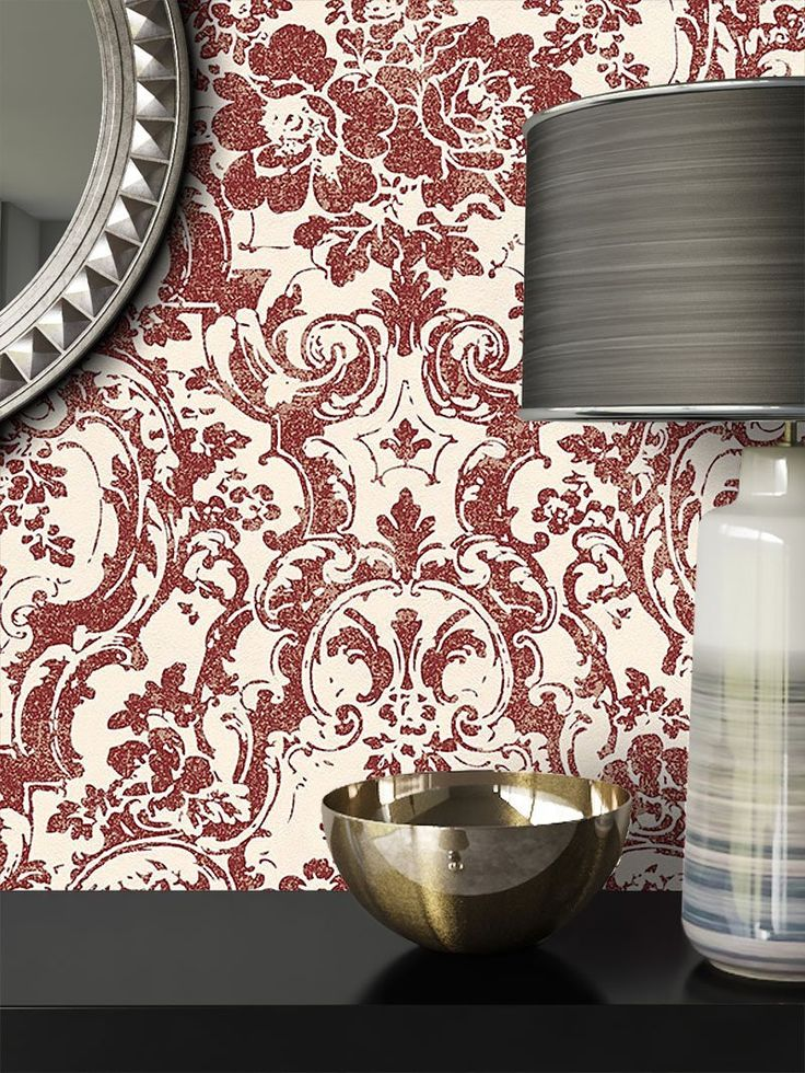 Newroom Wallpaper Cream Metallic Red Classic Traditional Neo Classical Fun Modern and Elegant Design Style | Includes Wallpaper Guide, fleece, Pattern 1, 10.05 m x 0.53 m: Amazon.co.uk: DIY & Tools