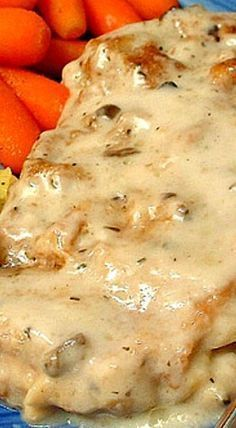 Baked Pork Chops with White Wine Mushroom Soup - make sure to read first review for extra yum! ❊