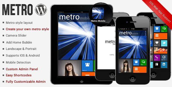 Metro Mobile Premium Wordpress Mobile Template - Mobile WordPress