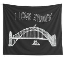 I Love Sydney (White) Wall Tapestry