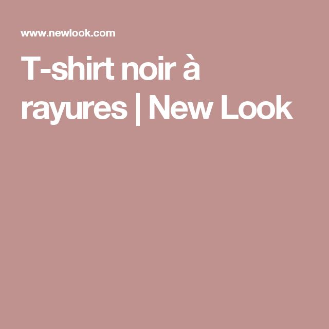 T-shirt noir à rayures  | New Look
