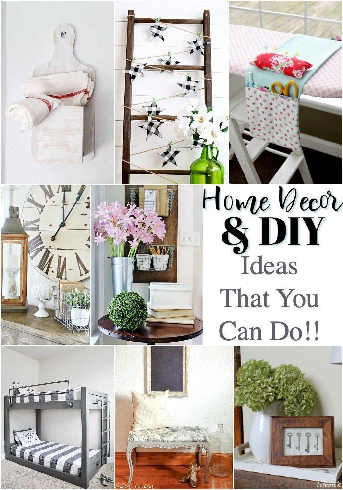 Eight Diy Home Decor Ideas Diy Decor Funky Home Decor Home Crafts
