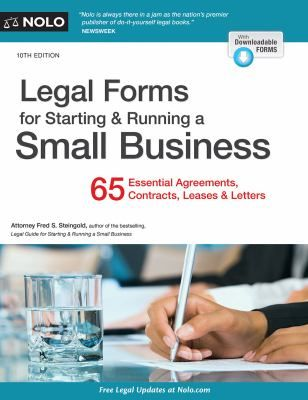 As a small business owner, you can't afford to farm paperwork and contracts out to a lawyer—you have to deal with them yourself. With Legal Forms for Starting & Running a Small Business, you can act with confidence.