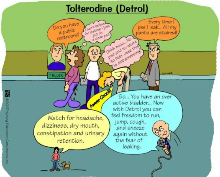 Detrol Pharmacology nursing, Nurse, Nursing mnemonics